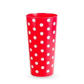 Lumoss - Lotus 600ml Polka Dot Printed Tumbler - Red - Set Of 4