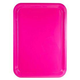 Lumo - Plastic Rectangle Tray 37cm x 27cm - Magenta