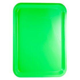 Lumo - Plastic Rectangle Tray 42cm x 30cm - Neon Green