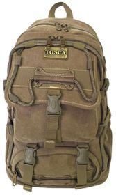 Tosca 22 Litres Large Canvas Backpack - Khaki