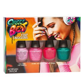 Morgan Taylor Nail Lacquer Tiny Taggers Mini - 4 Pack