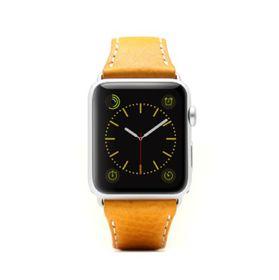 SLG Design D6 Italian Minerva Box Leather Strap for Apple Watch 42mm  -  Tan