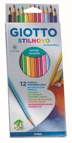 Giotto Stilnovo Aquarelle 12 Coloured Pencils