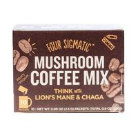 Four Sigma Foods Mushroom Coffee, Lions mane and Chaga,10 Sachets