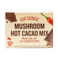 Four Sigma Foods Mushroom Cacao Drink Mix with Cordyceps 10 Sachets