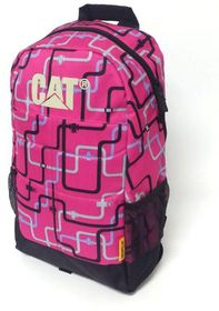 CAT Benji Backpack - Lines Fuscia