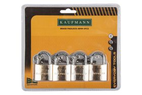 Kaufmann - 4 Piece 40mm Brass Lock Set