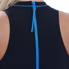 Zoggs Cable Zipped HighNeck Swimsuit