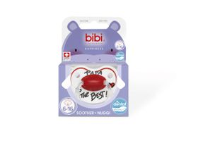 Bibi - 6-16m Silicone Soother - Papa Is The Best