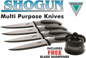 Shogun - Knife and Sharpening Set - Black