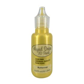 Ultimate Crafts Liquid Drops 3D Pearls - Buttercup