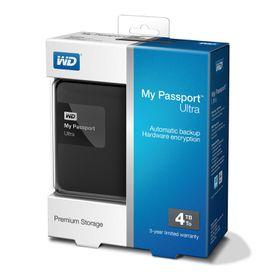 WD My Passport Ultra-Premium Portable Storage 4TB - Black