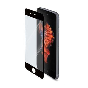 Celly Full Glass Protector for iPhone 6S - Black