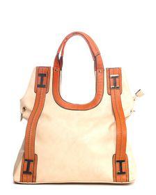 Parco Collection Beige & Brown Handbag