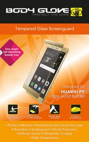 Body Glove Tempered Glass Screenguard for Huawei P9 - Hazel Gold Border