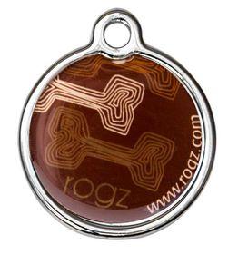 Rogz - 2cm ID Tagz Metal Tag - Mocha Bone Design