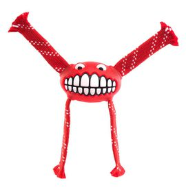 Rogz - 23cm Flossy Grinz Oral Care Dog Toy - Red