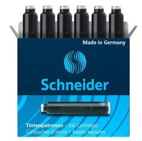 Schneider Ink Cartridges for Fountain Pen - Black (Box of 6 Refills)