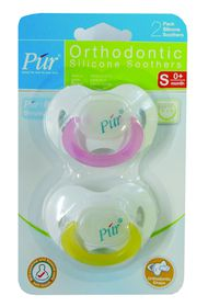 PUR - 2 Pack Soft Rim Pacifier (0-3 months)