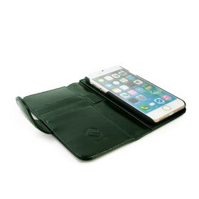 Tuff-Luv Vintage Leather Wallet and Screen Protector for iPhone 7 - Racing Green