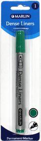 Marlin Dense Liners Permanent Marker - Green