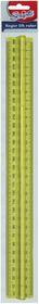 Scripto 30cm Finger Lift Ruler - Yellow
