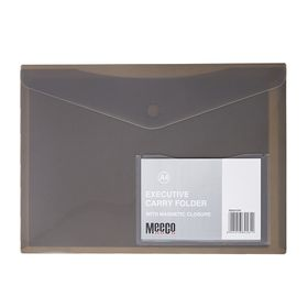 Meeco A4 Executive Carry Folder - Charcoal