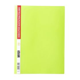 Meeco A4 Executive Quotation Folder - Yellow