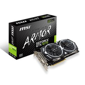 MSI GeForce GTX 1070 Armor OC Gaming Graphics Card - 8GB