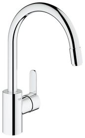 Grohe - EuroStyle Cosmopolitan Pull-Down Spray Head Kitchen Tap - High Spout