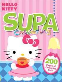 Hello Kitty 200 Page Supa Colour & Activity Book