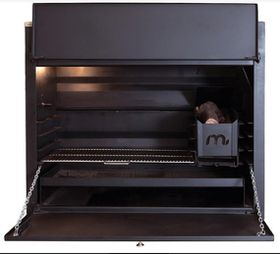 Megamaster - 1200 Deluxe Built in Braai - Black