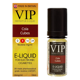 VIP E-Cigarettes 10ml Cola Cubes - 8mg