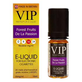 VIP E-Cigarettes 10ml Forest Fruit De La Passion - 16mg