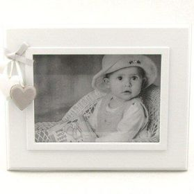Pamper Hamper - Simply White Single Photo Frame - White
