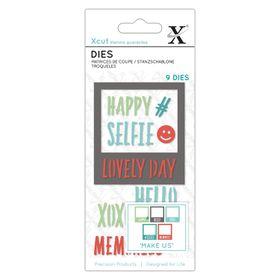 Xcut Dies - Selfie Frames & Sentiments