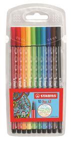 Stabilo Pen 68 1.0mm Fibre Tip Pens (Wallet of 10)
