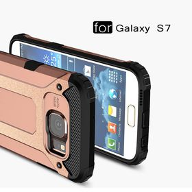 Tuff-Luv Tough Armour case for Samsung Galaxy S7 - Rose Gold