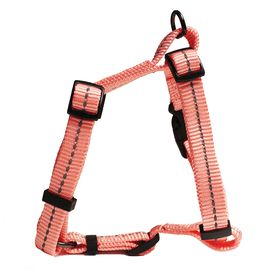 Dog's Life - Reflective Super soft Webbing H Harness - Small - Pink