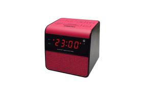 Sinotec Clock Radio and Bluetooth Speaker - Pink