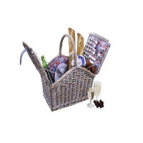 Avanti - 4 Person Half Willow Handle Basket - Flamingo
