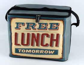 Leisure-quip - 30 Can Retro Soft Cooler Bag - Free Lunch Tomorrow