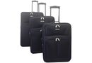 Voss 3 Piece Luggage Set - Black