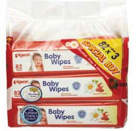Pigeon - Wipes 82'S Chamrose 3-In-1 Refill Pack