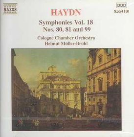 Cologne Chamber Orchestra - Symphonies Nos.80, 81 & 99 (CD)