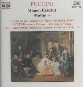 Puccini - Manon Lescaut Hilights (CD)