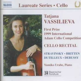 Stravinksy/Britten/Dutilleur/Debussy - Cello Recital;Vassilieva (CD)