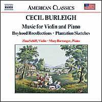 Burleigh Cecil - Violin And Piano Music;Schiff (CD)