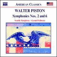 Piston - Symphonies Nos. 2&6;Schwarz (CD)