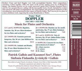 Doppler:Cto for 2 Flutes & Orch Fanta - (Import CD)